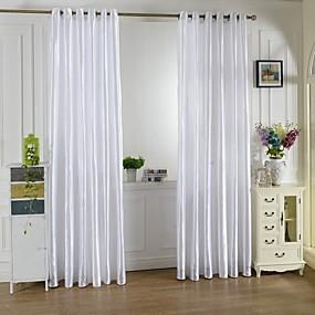 ราคาถูก ผ้าม่าน-ผ้าม่านปิดทึบ หนึ่งช่อง W99cm×L200cm ขาว / Living Room