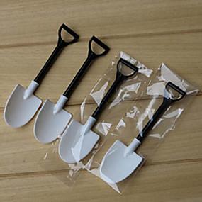 ieftine Veselă-100pcs de unică folosință de înghețată lingura lopata lopata individuale ambalate