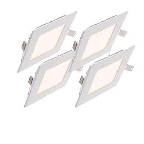 billige Innfelte LED-lys-4stk 12 W 2800-6500 lm 60pcs LED perler SMD 2835 Mulighet for demping / Dekorativ Varm hvit / Kjølig hvit / Naturlig hvit 85-265 V / 1 stk. / RoHs / 150