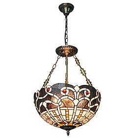 abordables Lampe Tiffany-CXYlight 3 lumières Lampe suspendue Lumière dirigée vers le haut Autres Métal Verre Style mini 110-120V / 220-240V Ampoule non incluse / E26 / E27