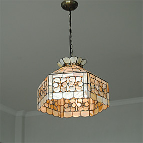 abordables Lampe Tiffany-CXYlight 3 lumières Lampe suspendue Lumière dirigée vers le bas Autres Métal Coquille Style mini 110-120V / 220-240V Ampoule non incluse / E26 / E27