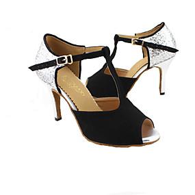 abordables Chaussures de Danse-Femme Chaussures Latines / Salon Matière synthétique Sandale Talon Personnalisé Personnalisables Chaussures de danse Rouge / Bleu / Orange / Cuir / Cuir