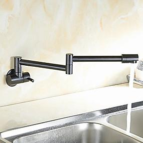 abordables Spray Amovible-Robinet de Cuisine - Mitigeur un trou Bronze huilé Pot Filler Set de centre Moderne Kitchen Taps