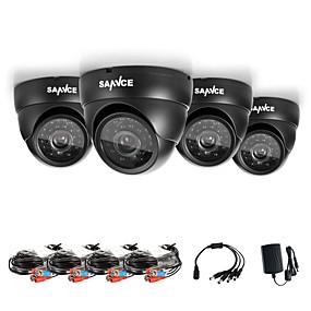 billige Overvåkningskameraer-SANNCE 1/4 tomme CMOS Kuppelkamera IP65