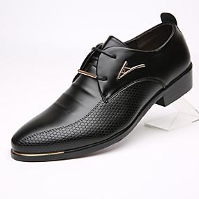 رخيصةأون أحذية أوكسفورد للرجال-رجالي أحذية رسمية جلد الربيع / الخريف الأعمال التجارية أوكسفورد أسود / بني