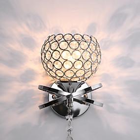 billige Krystall Vegglys-CXYlight Traditionel / Klassisk / Moderne / Nutidig Vegglamper Metall Vegglampe 110V / 110-120V / 220-240V 60W