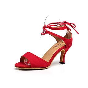 70c0fde346a Femme Chaussures Latines Flocage Sandale Boucle Talon Aiguille  Personnalisables Chaussures de danse Rouge   Bleu   Intérieur   Utilisation    Entraînement   ...