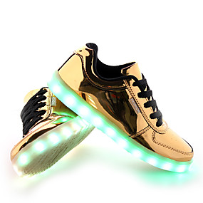 cheap LED Shoes-Men's LED Shoes PU(Polyurethane) Spring / Fall Comfort / Slouch Boots Sneakers Slip Resistant Gold / Silver
