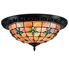 abordables Lampe Tiffany-CXYlight 4 lumières Montage du flux Lumière d'ambiance Finitions Peintes Métal Coquille Style mini 110-120V / 220-240V Ampoule non incluse / E26 / E27