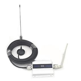 voordelige Mobiele signaalversterkers-LCD Display Mini GSM 900MHz Mobile Phone Signal Booster, GSM signaalversterker + antenne met 10m Kabel
