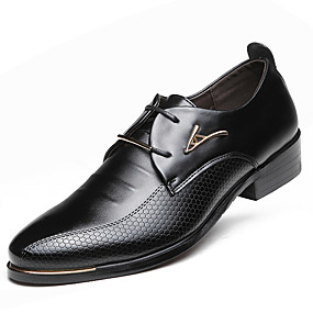 cheap Men's Shoes-Men's Formal Shoes Faux Leather Spring / Fall Business Oxfords Waterproof Black / Brown / Party & Evening / Lace-up / Party & Evening / Outdoor / Comfort Shoes