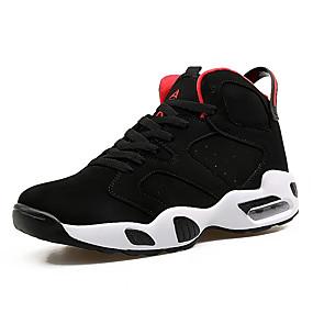 hesapli Erkek Atletik Ayakkabıları-Erkek Ayakkabı Tül / PU Bahar / Sonbahar Rahat / tembel çizmeler Atletik Ayakkabılar Basketbol Atletik / Günlük için Bağcıklı Siyah / Siyah / Kırmızı / Siyah / Beyaz