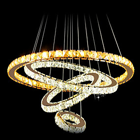 cheap Chandeliers-Pendant Light Ambient Light Electroplated Metal Crystal, LED 110-120V / 220-240V Cold White / Multi Color LED Light Source Included / LED Integrated