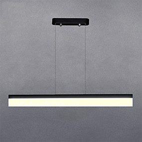 cheap Specials & Offers-80cm Modern Style Simplicity LED Pendant Lights Acrylic Metal Dining Room Study Room/Office Light Fixture