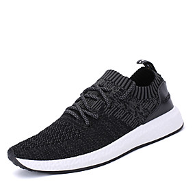 cheap Running Shoes-Men's Comfort Shoes PU(Polyurethane) Spring / Fall Athletic Shoes Running Shoes Black / Gray / Dark Grey / Lace-up