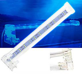 billiga Tillbehör till fiskar och akvarium-Akvarium LED-lampa Vit Med strömbrytare LED-lampa 220VV