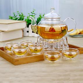 ieftine Cafea și Ceai-8pcs Hârtie Reciclabilă Set Ceainic  Rezistentă la căldură . 8.5*8.5*12.5