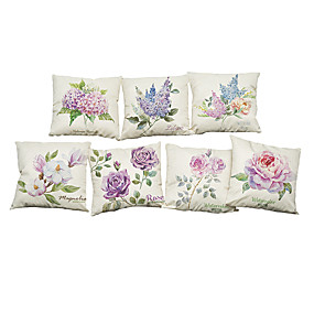 cheap Clearance-7 pcs Linen Pillow Cover Pillow Case, Solid Colored Novelty Textured Casual Modern Contemporary Office / Business