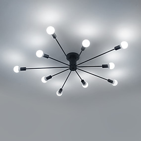 hesapli Eski Tip Yıldırım Podświetlenie-10-Işık Sputnik Sıva Altı Monteli Ortam Işığı Boyalı kaplamalar Metal Mini Tarzı 110-120V / 220-240V Sıcak Beyaz / Beyaz Ampul dahil değil / E26 / E27