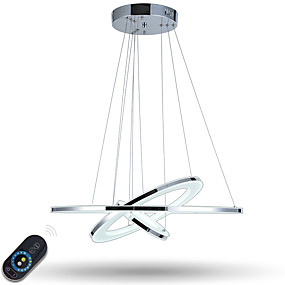 cheap Shipping Discount-Pendant Light Ambient Light Electroplated Metal Acrylic Dimmable, LED, Dimmable With Remote Control 110-120V / 220-240V LED Light Source Included / LED Integrated