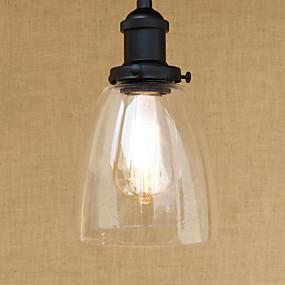 abordables Plafonniers-Mini Lampe suspendue Lumière d'ambiance Finitions Peintes Métal Verre Style mini, LED, Designers 110-120V / 220-240V Ampoule incluse / E26 / E27