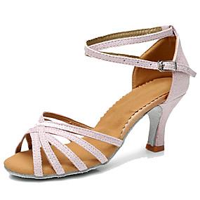 df14f398f0dc Žene Cipele za latino plesove Umjetna koža Štikle Potpetica po mjeri Moguće  personalizirati Plesne cipele Crno Zlato   Crno-srebrna   Pink