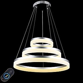 저렴한 특별 할인 및 프로모션-원형 펜던트 조명 엠비언트 라이트 Painted Finishes 금속 아크릴 밝기조절가능, LED, 원격 제어로 조광 가능 110-120V / 220-240V 원격 제어로 조광 가능 LED 광원 포함 / 집적 LED