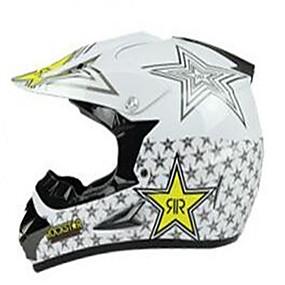 cheap Motorcyle Helmets-Off-Road Motorcycle Racing Helmet with Golden Star Pattern Full Face Damping Durable Motorsport Helmet