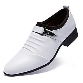abordables Oxfords pour Homme-Homme Chaussures habillées Cuir Confort Oxfords Blanc / Noir