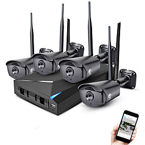 Недорогие Системы безопасности-jooan® 4ch беспроводной комплект nvr 4шт 1080p ночного видения с обнаружением движения 2.0mp ip-камера ip66 водонепроницаемый wi-fi видеонаблюдение система видеонаблюдения облако p2p