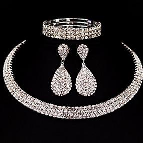 povoljno Svečani nakit-Žene Komplet nakita Klasik Osnovni Naušnice Jewelry Pink Za Božićni pokloni Vjenčanje Party Special Occasion godišnjica Rođendan / Angažman / Dar / Voljeni