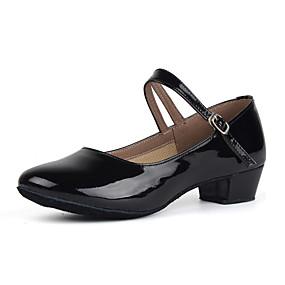 abordables Chaussures & Sacs-Femme Cuir Verni Chaussures Modernes Talon Talon Bas Personnalisables Noir / Argent / Rouge / Entraînement / EU39