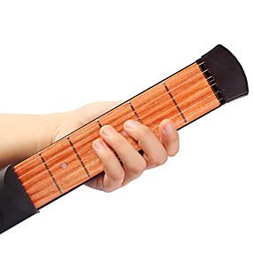 povoljno Glazbeni instrumenti-profesionalac Gitaristički alat za treniranje Pocket Guitar 38 Inch 6 Strings Drvo Prijenosno za početnike Glazbena oprema Instrument