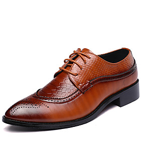 7249fc0e0cb Men s Formal Shoes Leather Spring   Fall British Oxfords Walking Shoes  Black   Brown   Red   Wedding   Party   Evening   Split Joint   Party    Evening ...