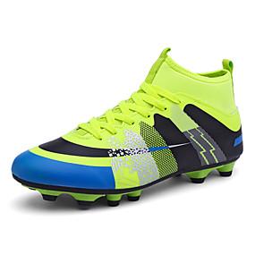baratos Sapatos Esportivos Masculinos-Unisexo Solas Claras Couro Sintético / Couro Ecológico Outono / Inverno Tênis Futebol Azul / Preto / verde / Laranja e Preto