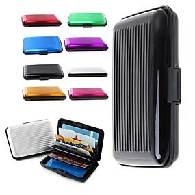 ราคาถูก สำนักงานจัดหาและตกแต่ง-ดีลักซ์กรณีกระเป๋าสตางค์ aluma กรณีบัตรเครดิตปกป้อง RFID สแกนโลหะ ramdon สี