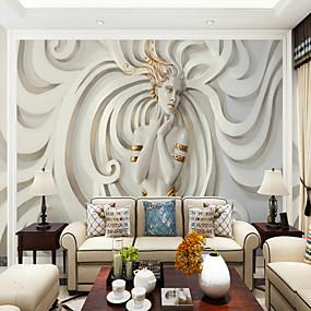 economico Casa e giardino-rilievo arte bellezza personalizzato 3d grande carta da parati murale sfondi ristorante moderato tv sfondo wall art