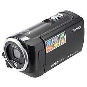 billige Overvåkningskameraer-andoer® lcd skjerm hd 16mp 16x digital zoom 720p 30fps anti-shake digital videoopptaker dv kamera videokamera dvr
