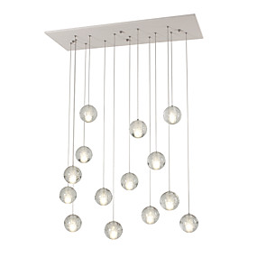 cheap Pendant Lights-UMEI™ Cluster Pendant Light Ambient Light White Metal Bulb Included, Dimmable, Dimmable With Remote Control AC100-240V Warm White / White Bulb Included / G4