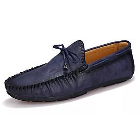 baratos Sapatos Náuticos Masculinos-Homens Mocassim Borracha Primavera Sapatos de Barco Marron / Azul