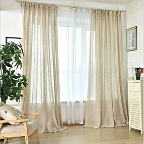 povoljno Zavjese i zastori-obične zavjese nijansi dvije ploče spavaća soba u boji ručne izrade