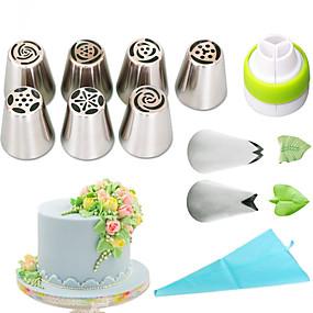 billige Bakeformer-1set Rustfritt Stål + A-klasse ABS Økovennlig Dagligdags Brug Cake Moulds Bakeware verktøy