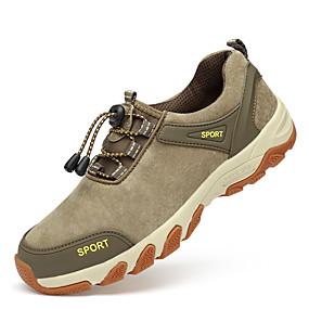 voordelige Wijdere maten schoenen-Heren Comfort schoenen Leer Lente / Herfst Sportschoenen Trektochten Blauw / Khaki / Sportief / Combinatie / EU40