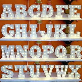cheap Summer Sale-1pc 26 Letters Alphabet LED Night Light Battery Powered Creative / Wedding / Decoration