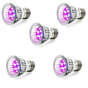 billige LED Økende Lamper-5pcs 3 W Voksende lyspære 165-190 lm E14 GU10 E26 / E27 50 LED perler SMD 5730 Rød Blå 85-265 V / 5 stk. / RoHs / FCC