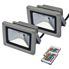 halpa Valonheittimet-jiawen 2kpl led flood light ulkona valaisin valonheitin 10w rgb ip65 seinähylly lamppu vedenpitävä puutarha valaistus ac85 -265v