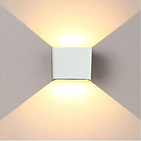 billige Vegglamper-Jiawen 6w 480lm ledet vegg lys enkelt / moderne / opp ned ledet trapp nattbord lampe soverom leser vegg lampe veranda trapp dekorasjon lys ac85-265v