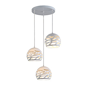 cheap Home Improvement-3-Light Cluster Pendant Light Downlight Painted Finishes Metal Adjustable, Designers 110-120V / 220-240V Bulb Not Included / E26 / E27