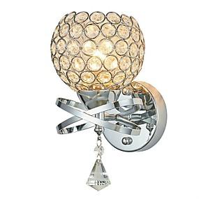 billige Krystall Vegglys-moderne enkelhet k9 krystallvegg lys stue stue soverom nattbord lampe trapper gangveis lysarmatur