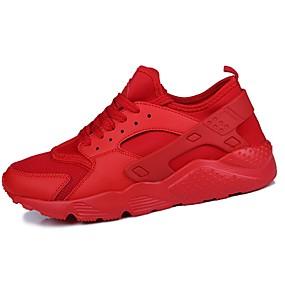 baratos Sapatos Esportivos Masculinos-Homens Sapatos Confortáveis Couro Ecológico Primavera / Outono Tênis Preto / Branco / Vermelho / Atlético / Cadarço / EU40
